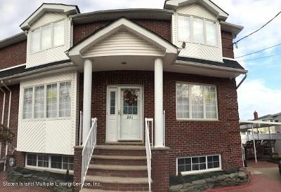 Staten Island Semi-Attached For Sale: 281 Riedel Avenue
