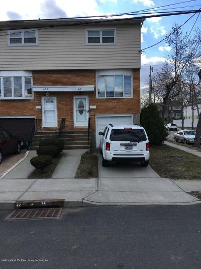 Staten Island Semi-Attached For Sale: 60 Dorothea Place