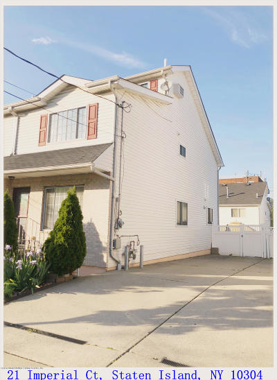 Staten Island Semi-Attached For Sale: 21 Imperial Court