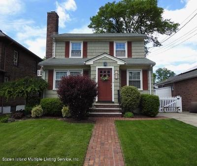 Staten Island Single Family Home For Sale: 91 Crowell Avenue
