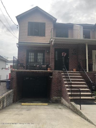 Staten Island Semi-Attached For Sale: 657 Woolley Avenue