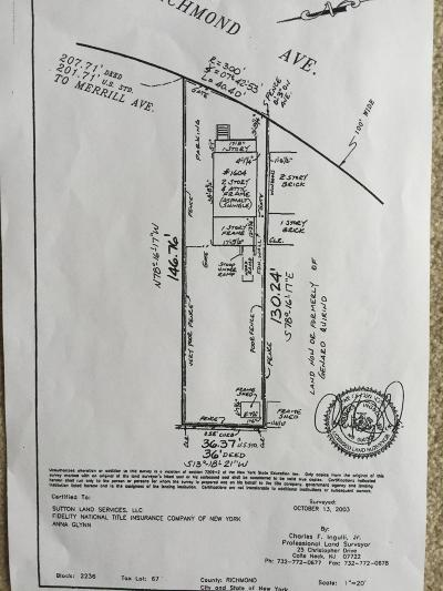 Staten Island Residential Lots & Land For Sale: 1604 Richmond Avenue