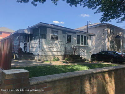 Staten Island Single Family Home For Sale: 27 Newberry Avenue