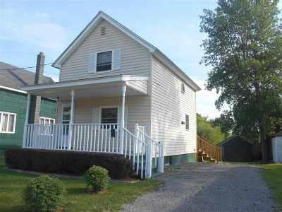 Massena NY Single Family Home For Sale: $39,900