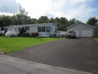 Massena NY Single Family Home For Sale: $69,900