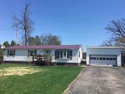 Ogdensburg NY Single Family Home For Sale: $90,000