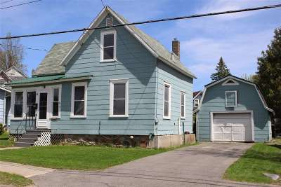 Canton NY Single Family Home For Sale: $74,900