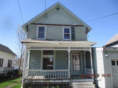 Ogdensburg NY Single Family Home For Sale: $12,000