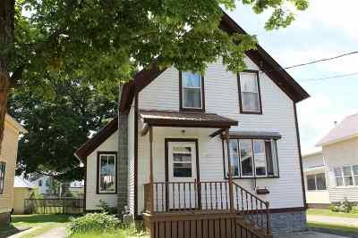 Ogdensburg NY Single Family Home For Sale: $72,900