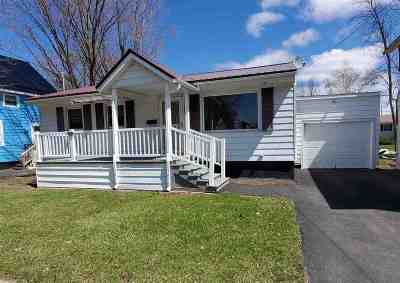 Ogdensburg NY Single Family Home For Sale: $59,900