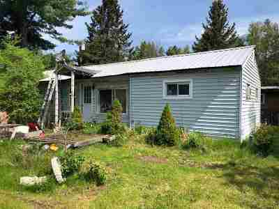 Norwood NY Single Family Home For Sale: $45,000