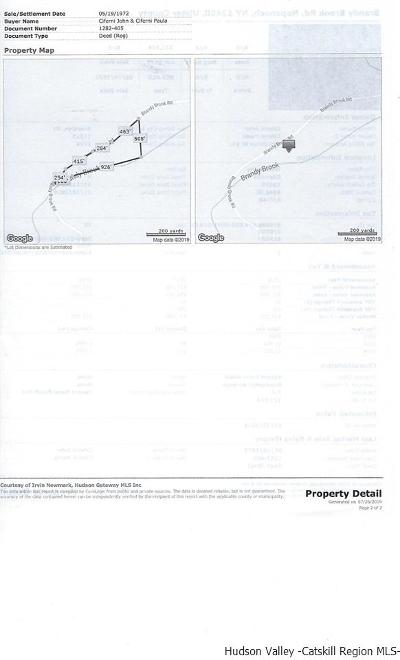 Orange County, Sullivan County, Ulster County Residential Lots & Land For Sale: Tbd Brandy Brook Road