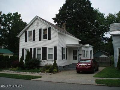 Glens Falls NY Single Family Home For Sale: $149,900
