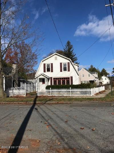 Fort Edward Single Family Home Contingent Contract: 21 Summit Street