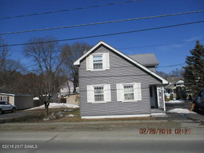 Hudson Falls Vlg NY Single Family Home For Sale: $76,900