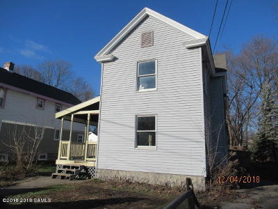 Hudson Falls Vlg NY Single Family Home For Sale: $64,900