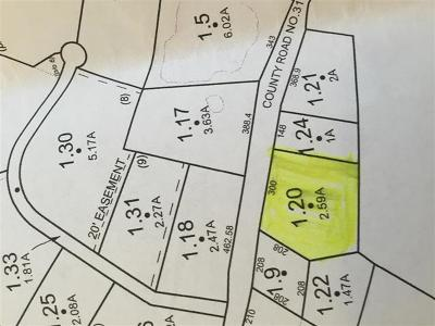 Residential Lots & Land For Sale: 15-1-1.2 County Road 31