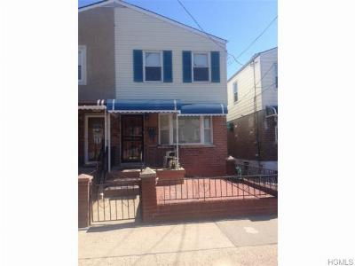 Bronx NY Single Family Home Sold: $250,000