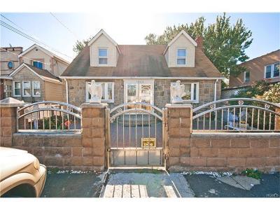 Bronx NY Single Family Home For Sale: $460,000