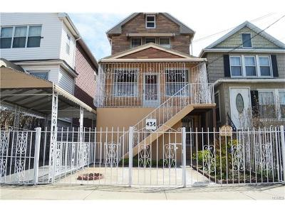 Bronx NY Single Family Home Sold: $405,000
