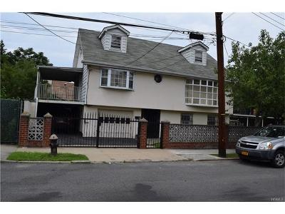 Bronx NY Single Family Home For Sale: $599,000