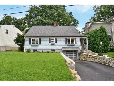 Scarsdale NY Single Family Home For Sale: $733,000