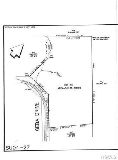 Glen Spey Residential Lots & Land For Sale: (20.-1-18.18) Geba Drive