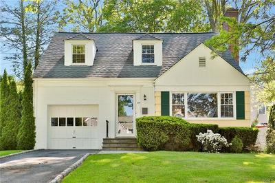 Scarsdale NY Single Family Home For Sale: $890,000