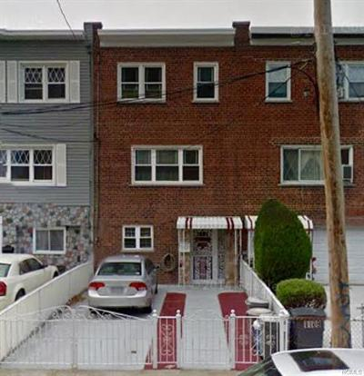 Bronx NY Single Family Home For Sale: $525,000