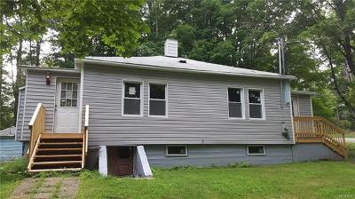 White Lake NY Single Family Home For Sale: $80,000