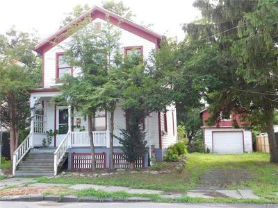 Port Jervis NY Single Family Home Contract: $43,000