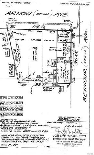 Bronx Residential Lots & Land For Sale: 1300 Arnow Avenue