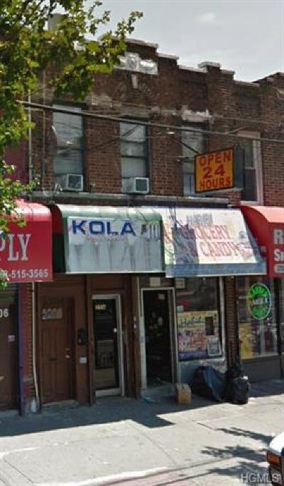 Bronx Commercial For Sale: 3704 White Plains Road