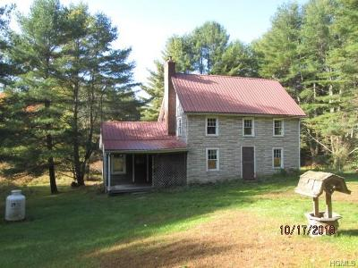 Napanoch Single Family Home For Sale: 275 Sholam Road