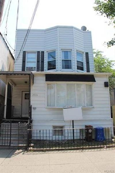 Bronx NY Multi Family 2-4 For Sale: $510,000