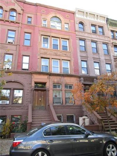 New York Multi Family 5+ For Sale: 118 West 121st Street
