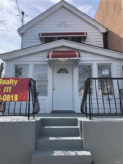 Bronx NY Single Family Home For Sale: $499,000