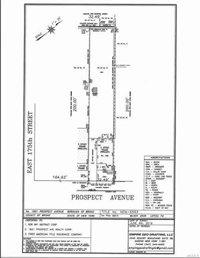Bronx Residential Lots & Land For Sale: 1821 Prospect Avenue