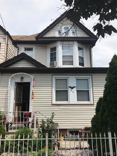 Yonkers Multi Family 2-4 For Sale: 39 Carroll Street