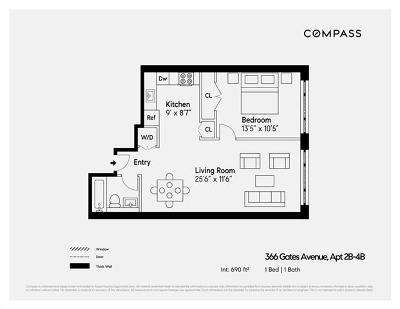 Brooklyn Condo/Townhouse For Sale: 366 Gates Avenue #2B