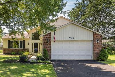 Reynoldsburg Single Family Home Contingent Finance And Inspect: 678 Blackoak Court
