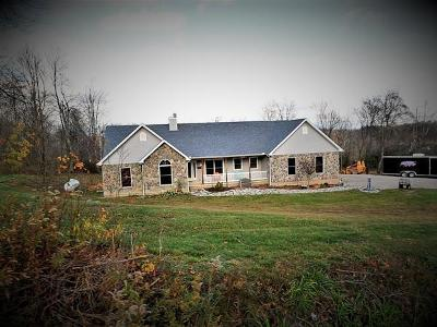 Frazeysburg Single Family Home Contingent Finance And Inspect: 10894 Pleasant Valley Road NE