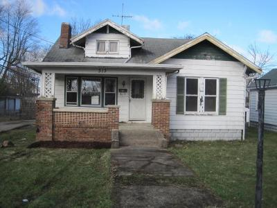 Washington Court House OH Single Family Home For Sale: $18,900