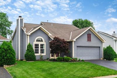 Pickerington Single Family Home Contingent Finance And Inspect: 7608 Kemper Lakes Drive