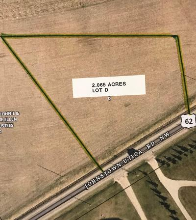 Johnstown Residential Lots & Land Contingent Finance And Inspect: 8962 Johnstown Utica Road NW