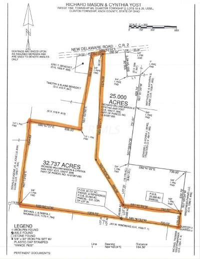 Mount Vernon Residential Lots & Land Contingent Finance And Inspect: New Delaware Road