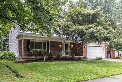 Gahanna Single Family Home Contingent Finance And Inspect: 537 Rocky Fork Court