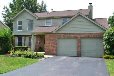 Dublin Single Family Home Contingent Finance And Inspect: 6873 Fallen Timbers Drive