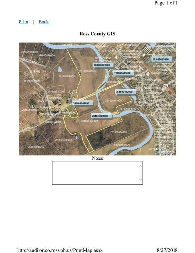 Chillicothe OH Residential Lots & Land For Sale: $1,075,000