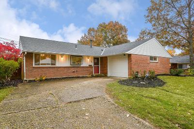 Reynoldsburg Single Family Home Contingent Finance And Inspect: 1790 Stouder Drive